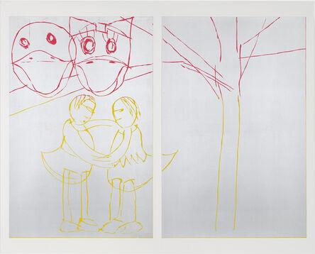 Andrea Büttner, 'Donald and Daisy', 2015