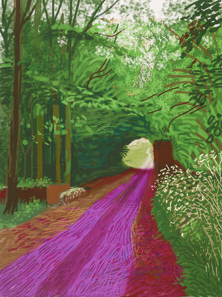 David Hockney, 'The arrival of spring in Woldgate, East Yorkshire in 2011 (twenty eleven)– 31 May, No. 1 (900)', 2011