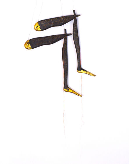Lesley Dill, 'Wood Poem Legs', 1994