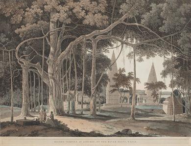 Thomas Daniell, 'Hindoo Temples at Agouree, On the River Soane, Bahar', 1796