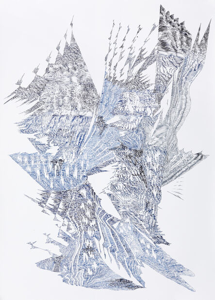 Lyndi Sales, 'Erosion Drawings: Blue Print for an Undesired World 3', 2015