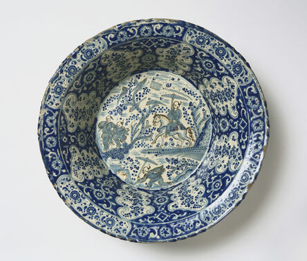 Workshop of: Diego Salvador Carreto, 'Basin with Landscape in Chinese Style', Late 17th century