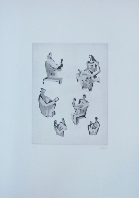 Henry Moore, 'Six mothers and child study (1976) (signed)', 1976
