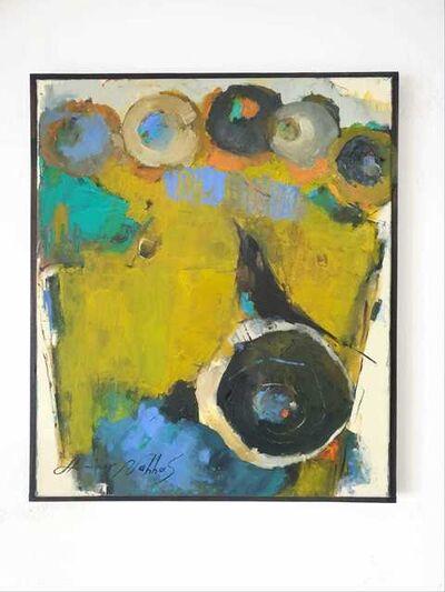 Ammar Alnahhas, 'Black bird and a golden flower vase', 2021