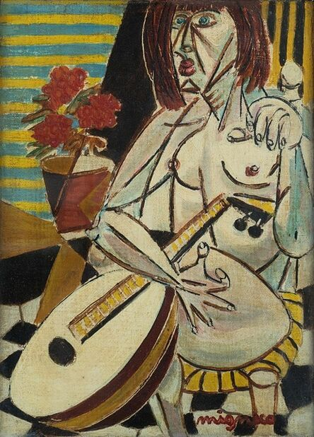 Giuseppe Migneco, 'Donna con chitarra'