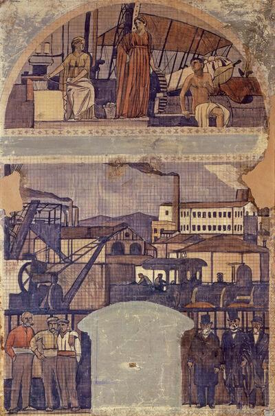 """Joaquín Torres-García, 'Design for the fresco """"La Catalunya Industrial"""" (The industrial Catalonia)', 1917"""