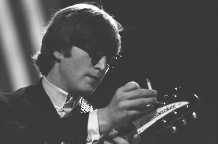 John 'Hoppy' Hopkins, ''Me and My Rickenbacker', John Lennon at Rehearsals for TV Show 'Top of the Pops', Teddington Studios', 1964