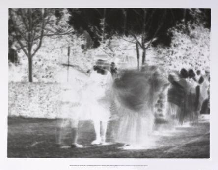 Perejaume, 'Impressió fotogràfica sobre un mateix paper de 40 fotogrames de la filmació del Ball de l'Espolsada, rodada a Cardedeu l'any 1902', 2015