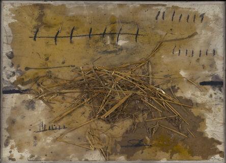 Antoni Tàpies, 'Collage à la paille'