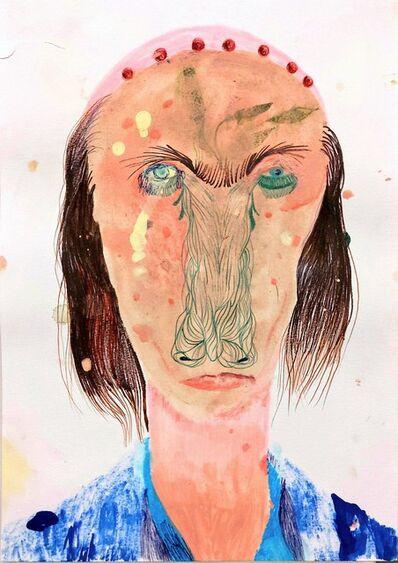 Silvia Mei, 'Il suo sguardo, macchie d'urina', 2014