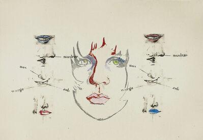 Larry Rivers, 'Diane Raised IV (Polish Vocabulary)', 1970-1974