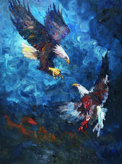 Liu Ruowang, 'Two Eagles', 2017