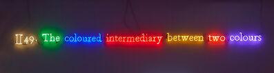 Joseph Kosuth, '# II 49 (On Color/Multi #1)', 1991
