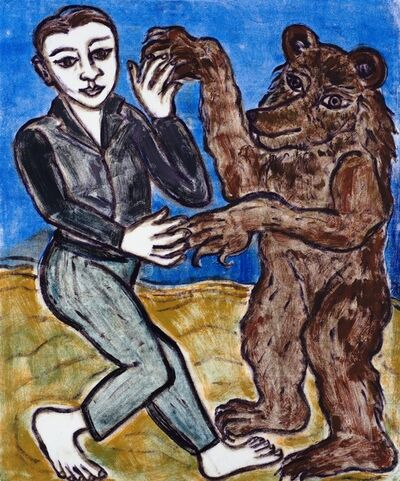 Eileen Cooper, 'The Boy and the Bear 2', 2019