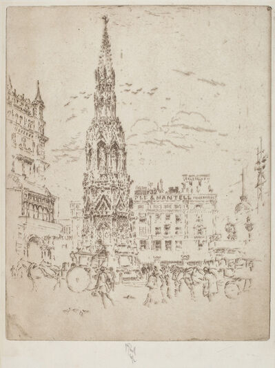 Joseph Pennell, 'The Elinor Cross, in Front of Charing Cross Railway Station', 1906