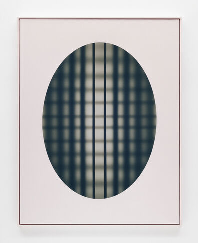 John Opera, 'Oval with grid (Black-Pink)', 2018