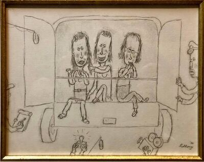 William Anthony, 'William Anthony Caricature Drawing Ladies in Paddy Wagon Being Filmed', 1990-1999