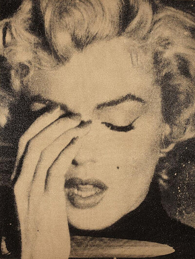 Russell Young, 'Marilyn Monroe Crying (gold)', 2013
