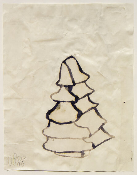 Donald Baechler, 'Untitled (Tree)', 1988