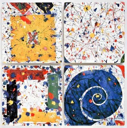 Sam Francis, 'Suite of Four Limited Edition Ceramic Plates ', ca. 2000
