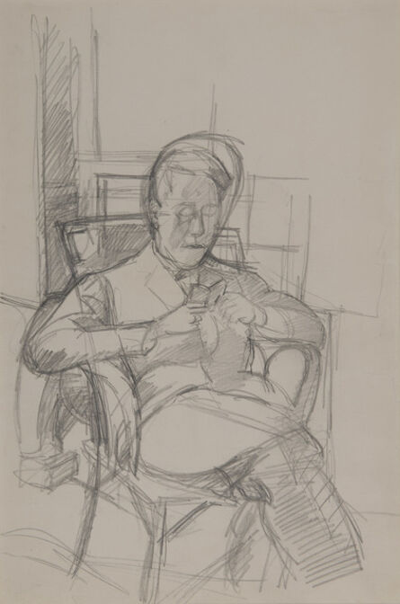 Alberto Giacometti, 'Bruno lisant'