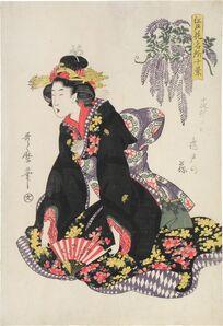 Kitagawa Utamaro, 'Ten Views of Famous Floral Places in Edo: Wisteria at Kameido', ca. 1805