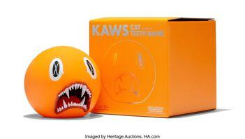 KAWS, 'Cat Teeth Bank (Orange)', 2007