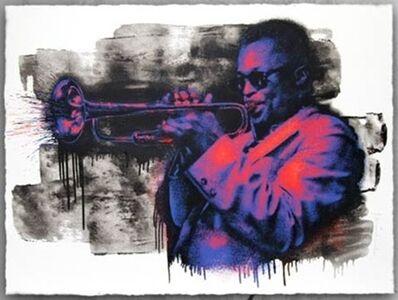Mr. Brainwash, 'Miles Davis (Purple/Orange)', 2015