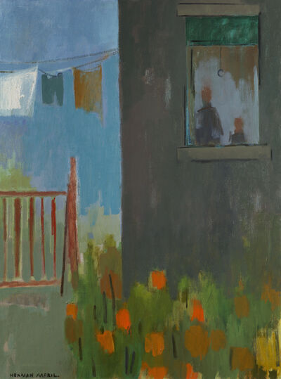 Herman Maril, 'Clothesline and Flowers', 1970