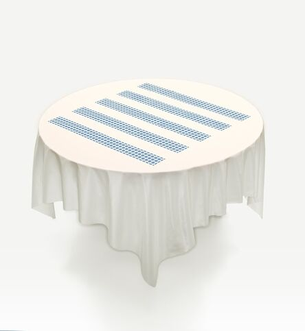 Daniel Buren, 'Unique Tablecloth with Laser-Cut Lace (Object to Be Situated on Table), (for Parkett 66)', 2002