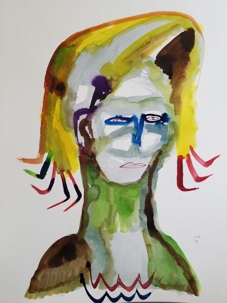 Wole Lagunju, 'Portrait of a Feminist II', 2019