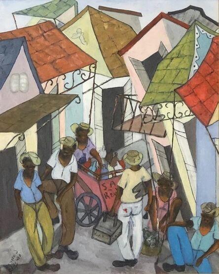 Reynald Joseph, 'Shoe Maker/ Fresco', ca. 2000