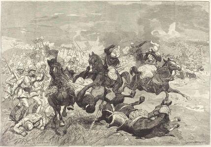 Auguste Lepère and Jacques Beltrand after Józef Chelmonski, 'Au Soudan: Bataille d'El-Teb', 1883/1890