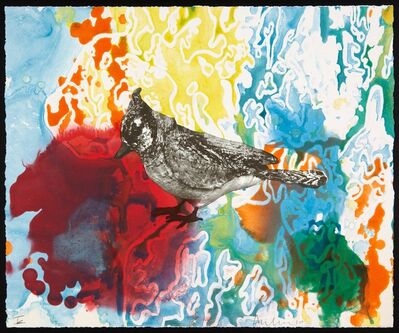 Anne Chu, 'Blue jay monotypes', 2010