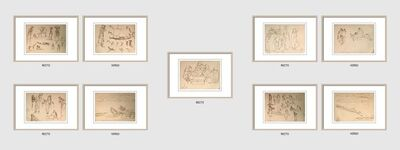 """Indra Dugar, 'Untitled, Ink on Paper (Recto-Verso), Set of Five by Modern Indian Artist """"In Stock""""', 1963-1964"""
