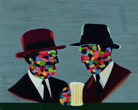 Eduardo Arroyo, 'Parmis les peintres', 1969