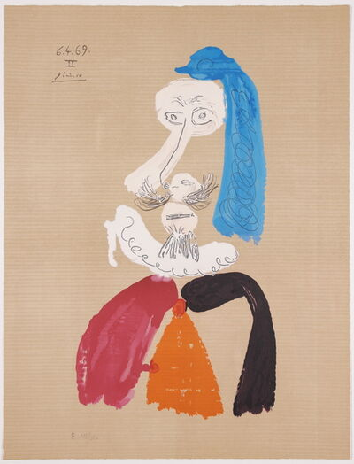 Pablo Picasso, 'Portraits Imaginaires 6.4.69 II', 1969