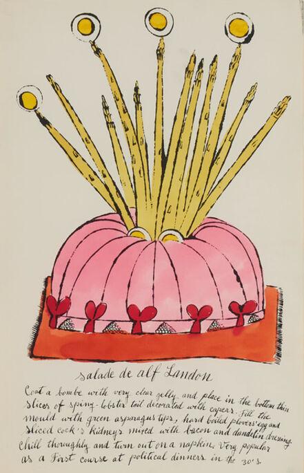 Andy Warhol, 'Salade de Alf Landon (from The Wild Raspberries portfolio created in collaboration with Suzie Frankfurt)', 1959