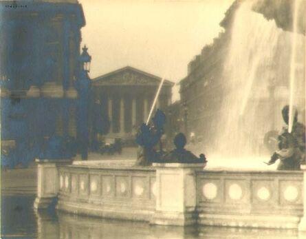 William Cunningham Odiorne, 'Fountain, Place de la Concorde, Paris', 1920s