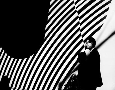 Jake Lambroza, 'Man with Striped Wall '