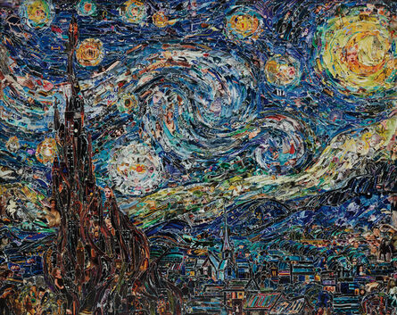 Vik Muniz, 'Starry Night, after Van Gogh from Pictures of Magazines 2', 2012