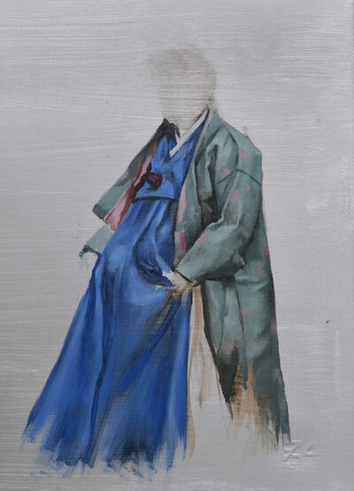 Helena Parada-Kim, 'Blue Hanbok Study', 2021