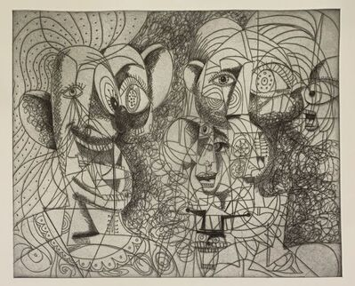 George Condo, 'Laughing Clown Composition', 2020