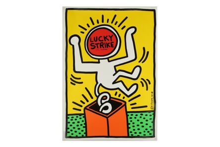 Keith Haring, 'Lucky Strike It's Toasted (Yellow)'