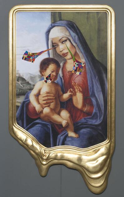 Francesco Vezzoli, 'CRYING PORTRAIT OF NAOMI CAMPBELL AS A RENAISSANCE MADONNA WITH HOLY CHILD (AFTER CIMA DA CONEGLIANO)', 2010