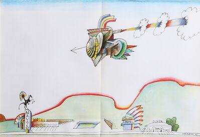 Saul Steinberg, 'Navajo Motel from Derrière le Miroir ', 1965