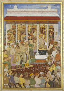 Bhola, 'The Weighing of Shah-Jahan on his 42nd lunar birthday (23 October 1632)', 1656-1657