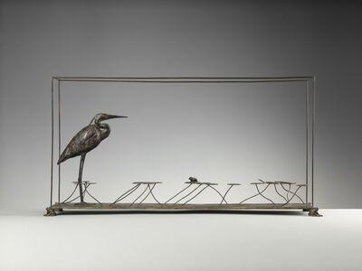 Nicola Lazzari, 'Heron treading the lily pads ', 2018