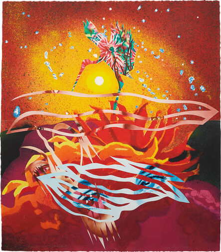 James Rosenquist, 'The Bird of Paradise Approaches the Hot Water Planet, from Welcome to the Water Planet', 1989