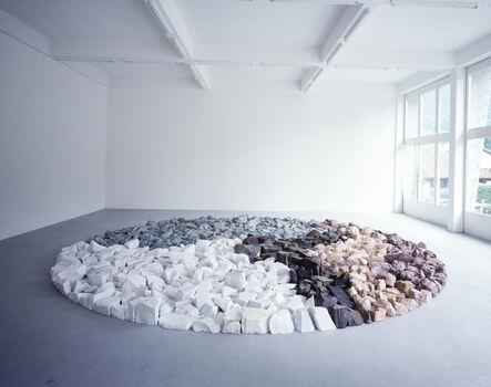 Richard Long, 'Black White Green Pink Purple Circle', 1998